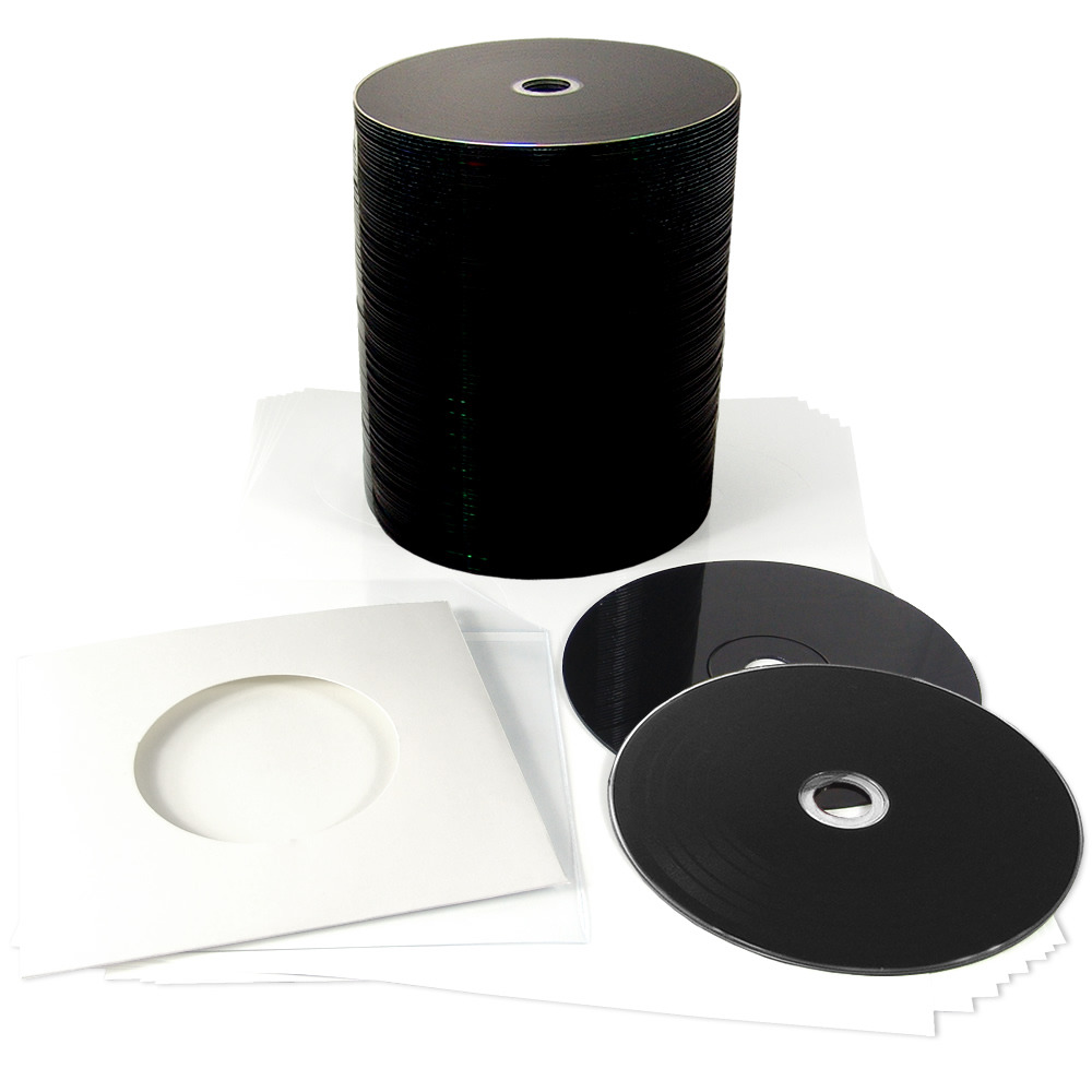 Blank 12cm Black Vinyl Cd R 700mb With Stickers And