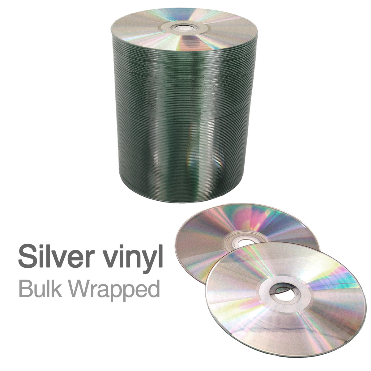 Blank 12cm Silver Vinyl Cd R 700mb Bulk Wrapped Retro