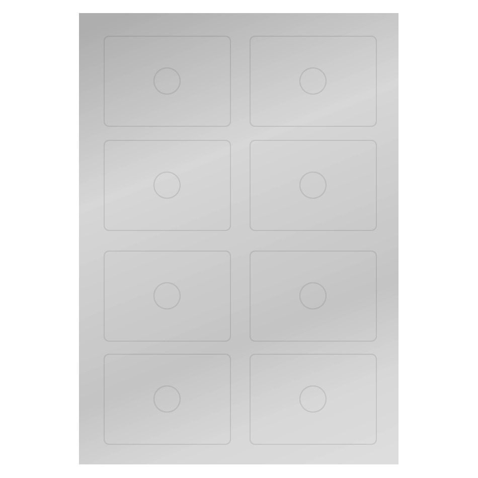 Metallic silver labels for business card CD/DVD on A4 sheets - Retro ...