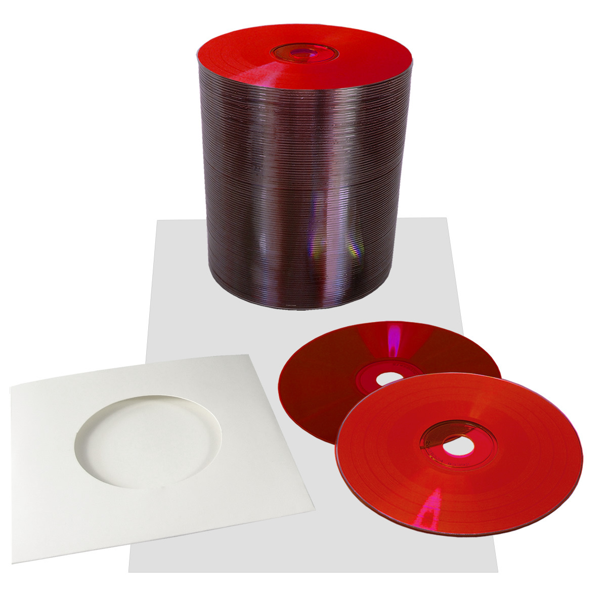 Blank 12cm Red Vinyl Cd R 700mb With Stickers And