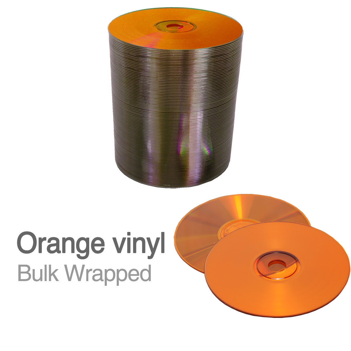blank 12cm orange vinyl cd r 700mb bulk wrapped retro. Black Bedroom Furniture Sets. Home Design Ideas