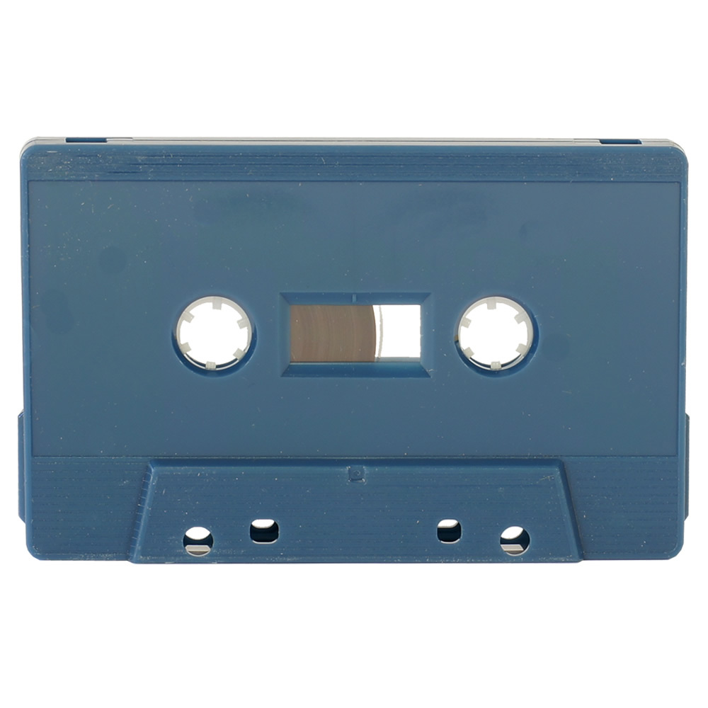 Petrol blue blank audio cassette tapes - Retro Style Media