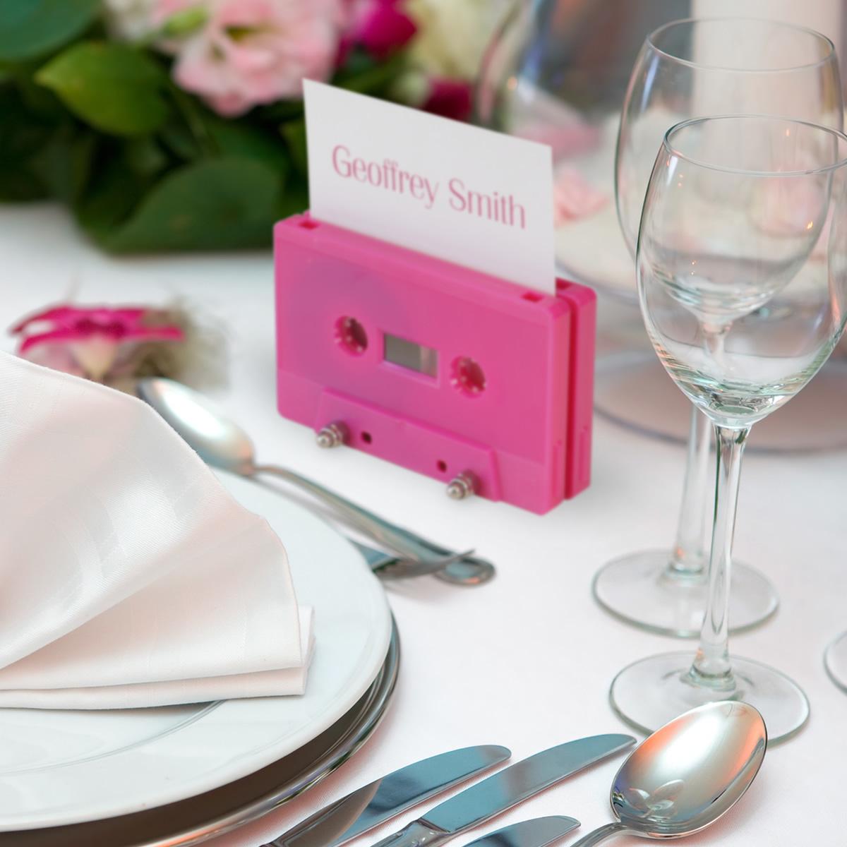 Cassette tape name place holder - Retro Style Media