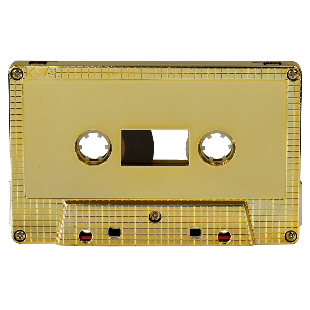 Gold metallic blank audio cassette tapes - Retro Style Media