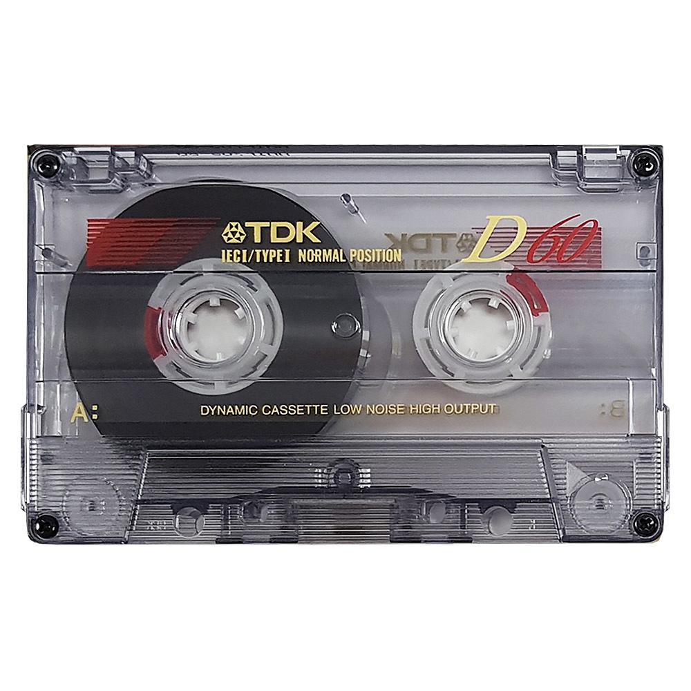 1997 TDK D 60 NORMAL POSITION TYPE I BLANK AUDIO CASSETTE