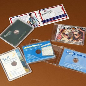 Business card CD and DVD packaging
