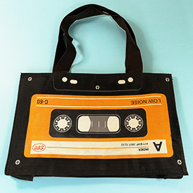 Cassette themed shoulder bag